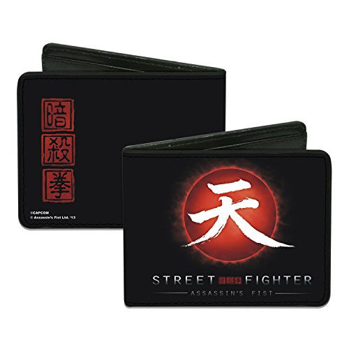 Street Fighter - ASSASSIN'S FIST Akuma Symbol & Rising Sun - Bi-Fold Wallet