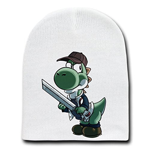 Parody 'Walking Plumbers' As Glenn Zombie - White Adult Beanie Skull Cap Hat