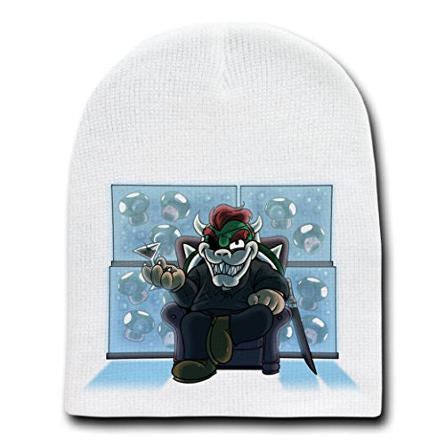 Parody 'Walking Plumbers' As Governor Zombie - White Adult Beanie Skull Cap Hat