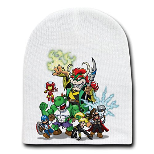 Video Game Parody 'The Plungers' Entire Crew - Adult Beanie Skull Cap Hat