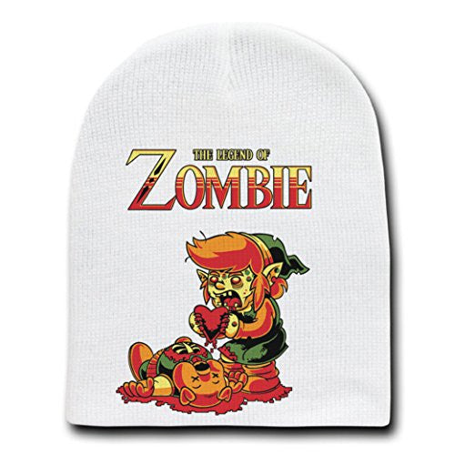 'The Legend of Zombie' Funny Classic Video Game Parody - Adult Beanie Skull Cap Hat