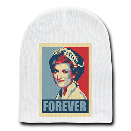 'Princess Diana Forever' Political Poster - White Adult Beanie Skull Cap Hat