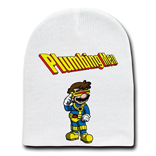 'Myclops' Super Hero & Video Game Parody - White Adult Beanie Skull Cap Hat