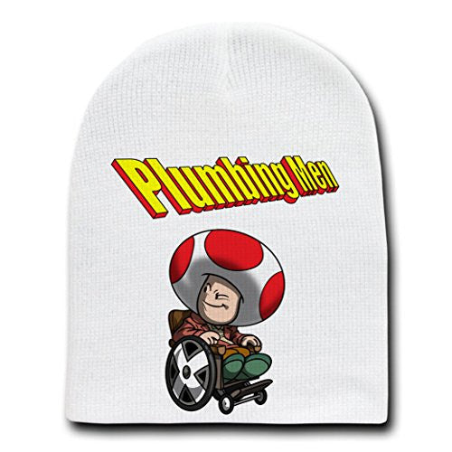 'Professor Toad' Super Hero & Video Game Parody - White Adult Beanie Skull Cap Hat