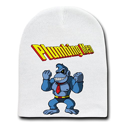'Beastkong' Super Hero & Video Game Parody - White Adult Beanie Skull Cap Hat