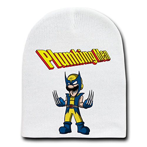 'Wolverigi' Super Hero & Video Game Parody - White Adult Beanie Skull Cap Hat