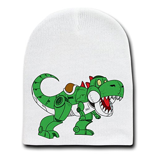 'Ybot' Funny Movie & Video Game Parody - White Adult Beanie Skull Cap Hat