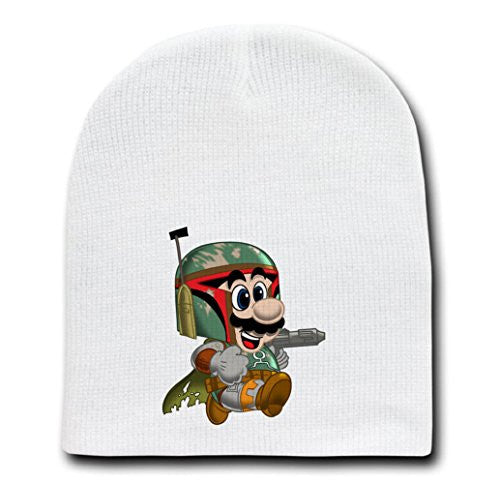 White Adult Beanie Skull Cap Hat - 'Toilet Hunter' Movie & Game Parody