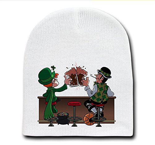 'Irish Drinking Buddies' Parody - White Adult Beanie Skull Cap Hat