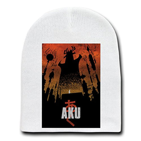 'Akaiju' Cartoon & Monster Parody - White Adult Beanie Skull Cap Hat