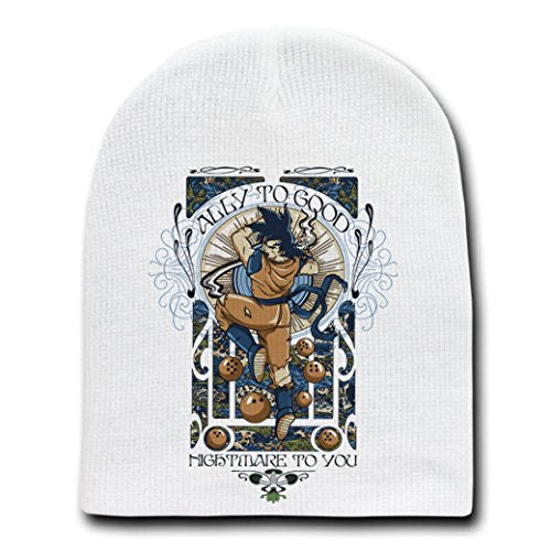 'Ally to Good' Anime Cartoon Parody - White Adult Beanie Skull Cap Hat