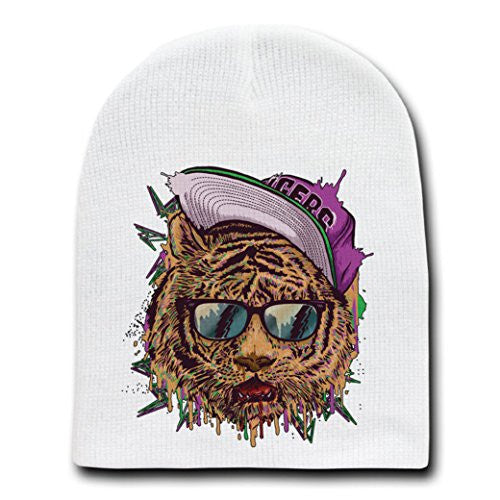 'Bayside Tigers' Classic TV Show Parody - White Adult Beanie Skull Cap Hat