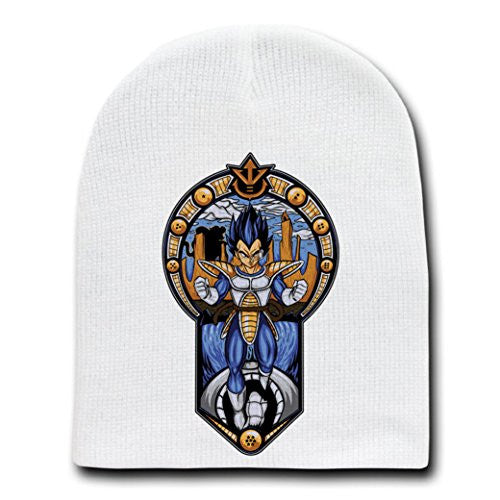 'Prince' Anime Cartoon Parody - White Adult Beanie Skull Cap Hat