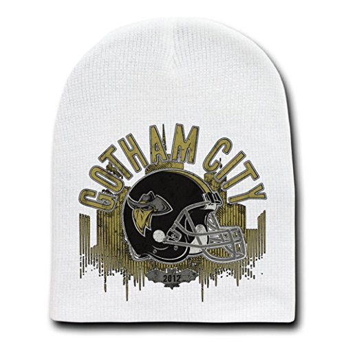'Rogues' Comic Movie Parody - White Adult Beanie Skull Cap Hat