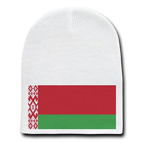 Belarus - World Country National Flags - White Beanie Skull Cap Hat