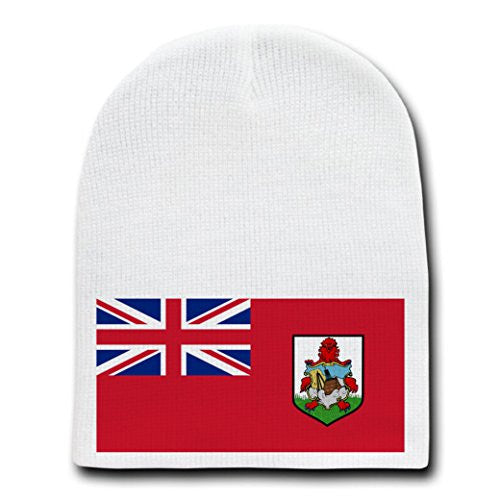 Bermuda - World Country National Flags - White Beanie Skull Cap Hat