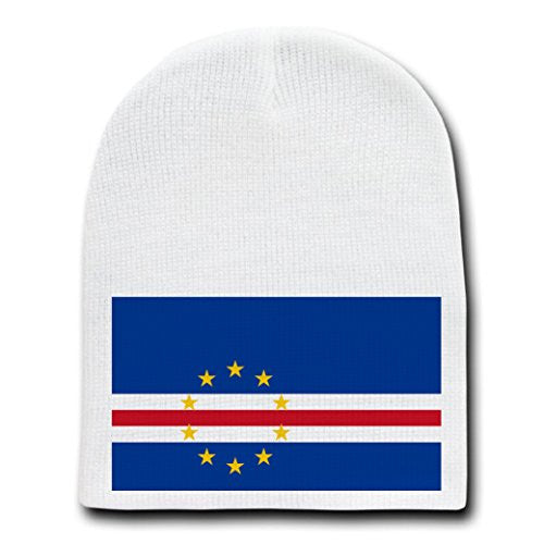 Cape Verde - World Country National Flags - White Beanie Skull Cap Hat