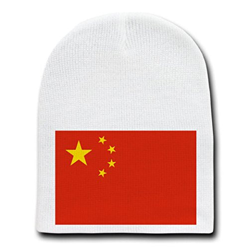 People's Republic of China - National Flags - White Beanie Skull Cap Hat