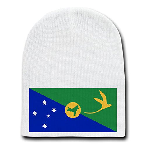 Christmas Island - World Country National Flags - White Beanie Skull Cap Hat
