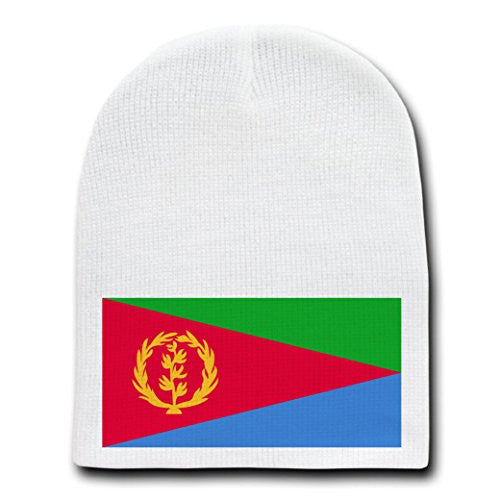 Eritrea - World Country National Flags - White Beanie Skull Cap Hat