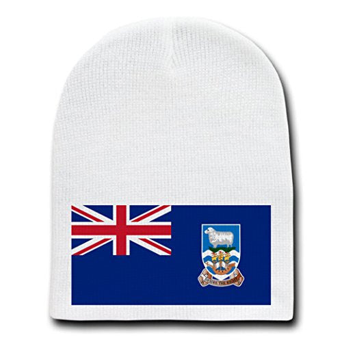 Falkland Islands - World Country National Flags - White Beanie Skull Cap Hat