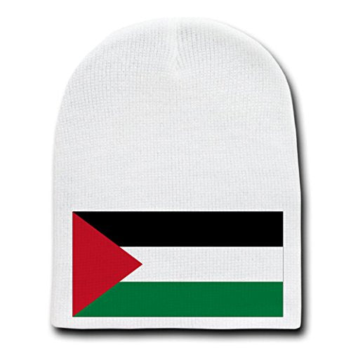 Gaza Strip (Palestine) - World Country National Flags - White Beanie Skull Cap Hat