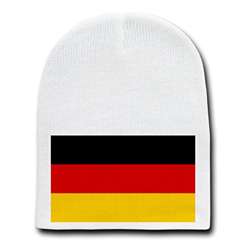 Germany - World Country National Flags - White Beanie Skull Cap Hat