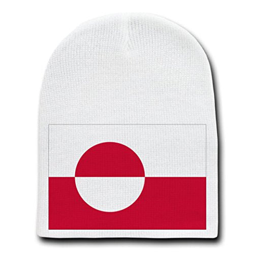 Greenland - World Country National Flags - White Beanie Skull Cap Hat
