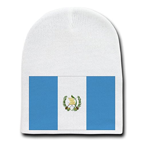 Guatemala - World Country National Flags - White Beanie Skull Cap Hat