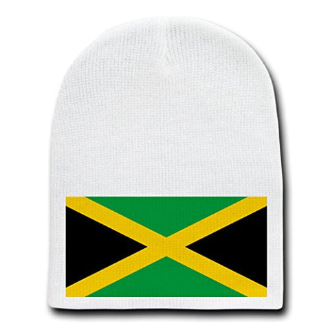 c995d243b3b3 Sale Jamaica - World Country National Flags - White Beanie Skull Cap Hat
