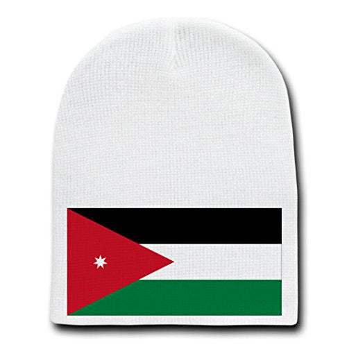 Jordan - World Country National Flags - White Beanie Skull Cap Hat –  hatshark b8bb51baf66