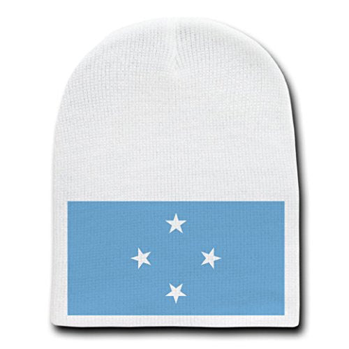 Federated States of Micronesia - National Flags - White Beanie Skull Cap Hat
