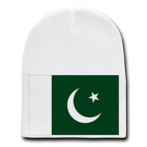 Pakistan - World Country National Flags - White Beanie Skull Cap Hat