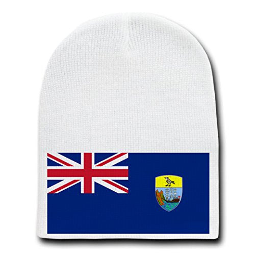 Saint Helena - World Country National Flags - White Beanie Skull Cap Hat