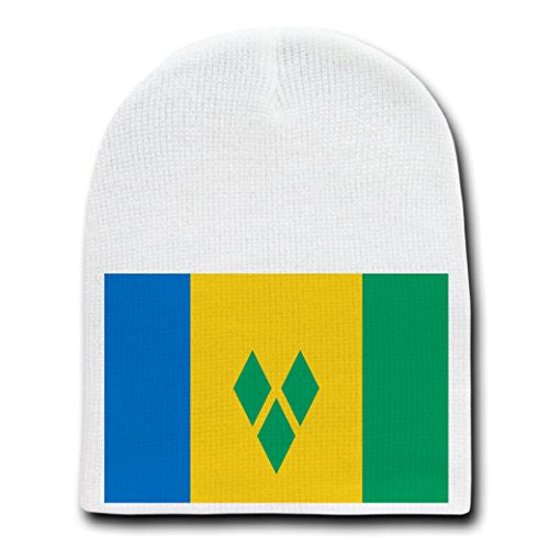 Saint Vincent & the Grenadines - National Flags - White Beanie Skull Cap Hat