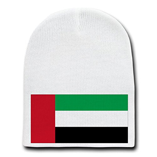 United Arab Emirates - World Country National Flags - White Beanie Skull Cap Hat