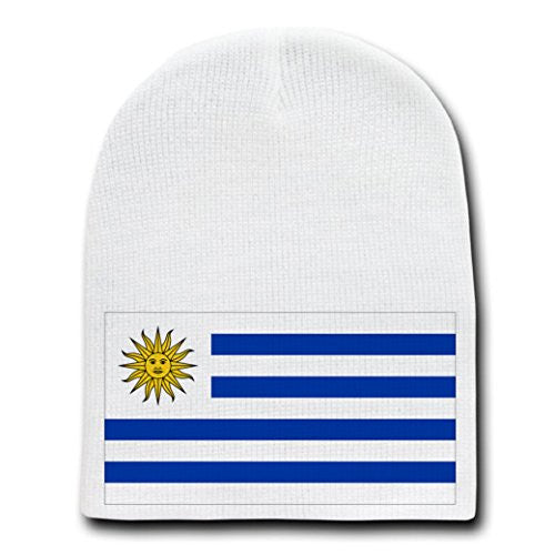 Uruguay - World Country National Flags - White Beanie Skull Cap Hat
