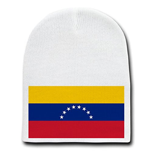 Venezuela - World Country National Flags - White Beanie Skull Cap Hat