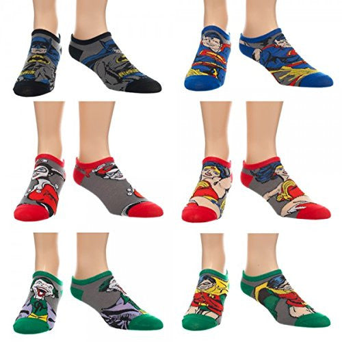 Dc Comics Character Ankle Socks SET of SIX