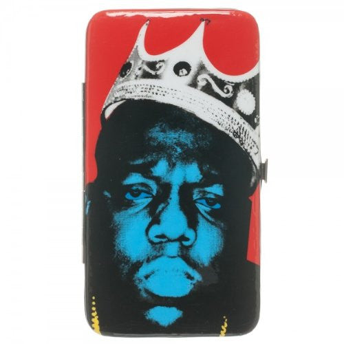 NOTORIOUS BIG Biggie Crown Red Hinge Wallet