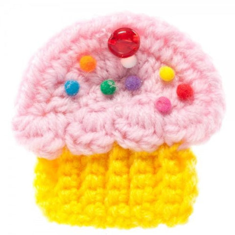 Yummy You Cupcake Pink White Yellow Hair Pin