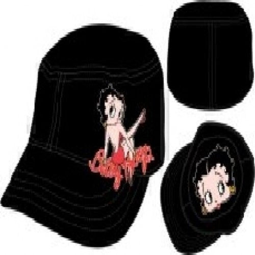 Betty Boop Cartoon Juniors Black Cadet Cap Hat