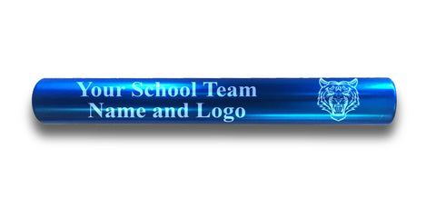Custom Blue Aluminum Track and Field Relay Baton Personalized Gift - Your Team Name and Logo Engraved
