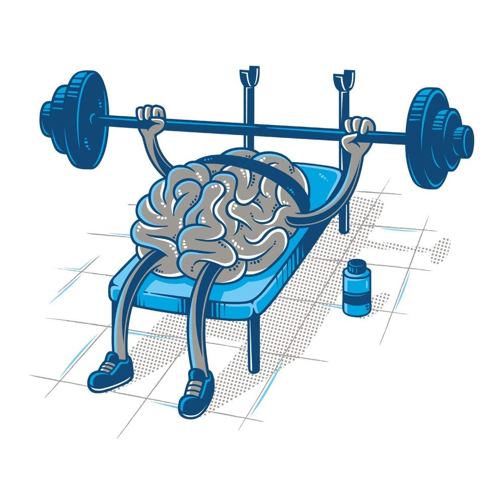 Brain Testing Strong Weightlifting Brain Vinyl Sticker