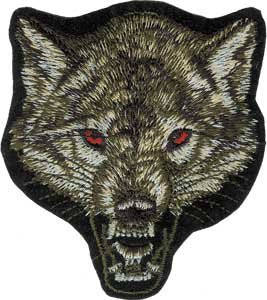 Wolf - Fierce Howling Face Logo Patch