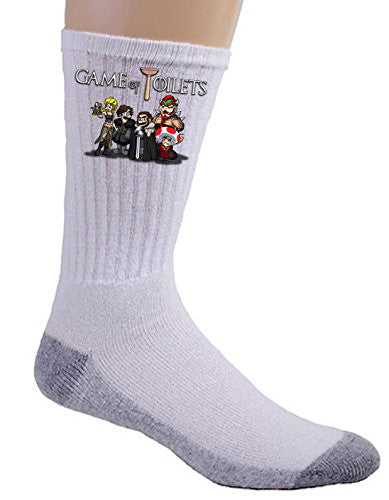 'Game of Toilets' Funny Video Game & TV Show Parody - Crew Socks