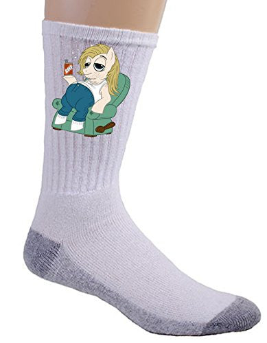 'Beer Gut' Funny Animal Cartoon Parody - Crew Socks