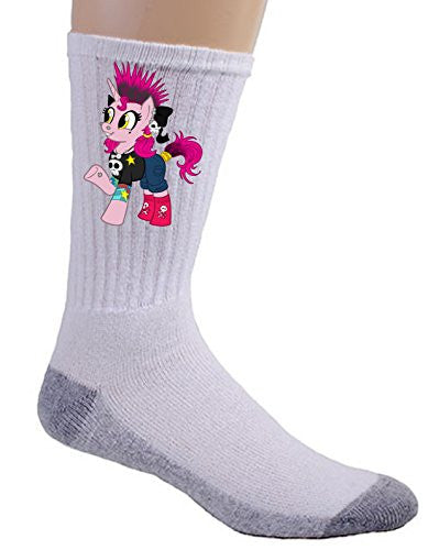 'Spikey Punkicorn' Funny Animal Cartoon Parody - Crew Socks