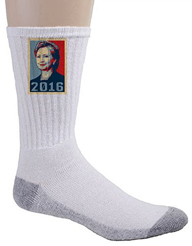 '2016' Hillary Clinton Presidential Candidate - Crew Socks