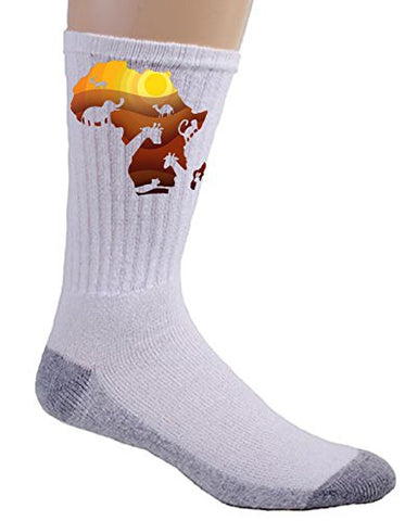 'African Animals' Sahara Bush Wildlife - Crew Socks